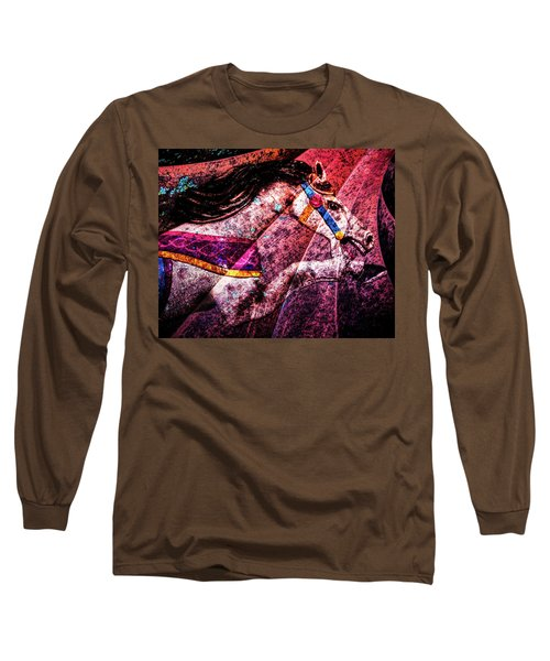Long Sleeve T-Shirt featuring the photograph Shades Of Antique Carousel by Michael Arend