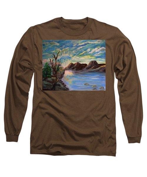 Snowy Range And Lookout Lake Long Sleeve T-Shirt