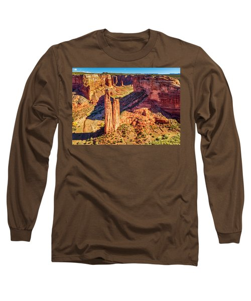 Long Sleeve T-Shirt featuring the photograph Spider Rock by Andy Crawford