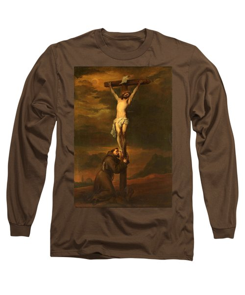 St Francis At The Foot Of The Cross Long Sleeve T-Shirt