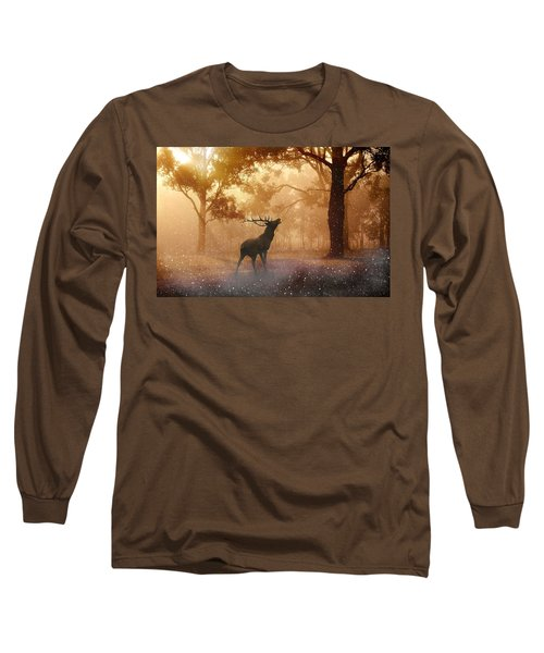 Stag In The Forest Long Sleeve T-Shirt
