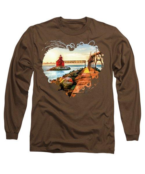 Sturgeon Bay Canal Pierhead Light Long Sleeve T-Shirt