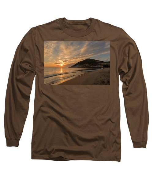 Sunrise On The Beach Of The Genoveses Of Cabo De Gata Long Sleeve T-Shirt