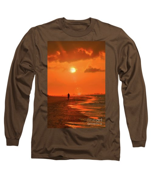 Sunrise Walk On Sanibel Island Long Sleeve T-Shirt