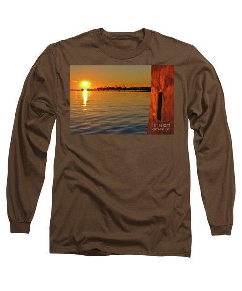 Sunset And Old Watermill Long Sleeve T-Shirt
