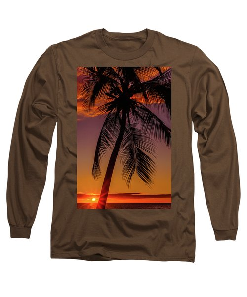 Sunset At The Palm Long Sleeve T-Shirt