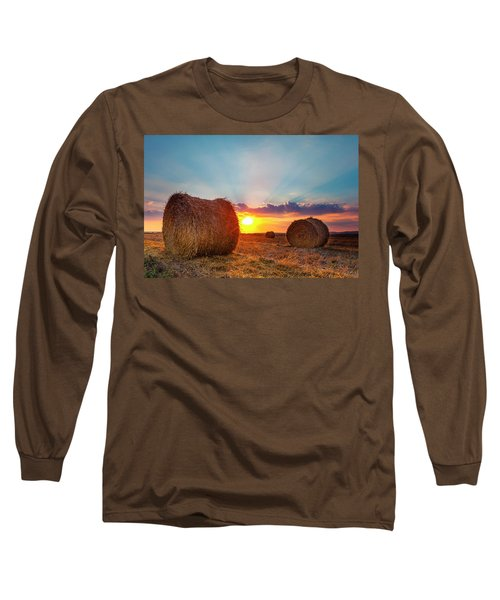 Sunset Bales Long Sleeve T-Shirt
