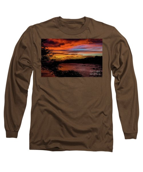 Sunset In Praia, Cape Verde Long Sleeve T-Shirt