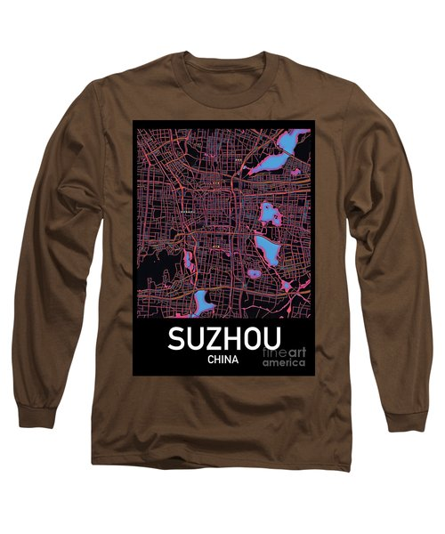 Suzhou City Map Long Sleeve T-Shirt