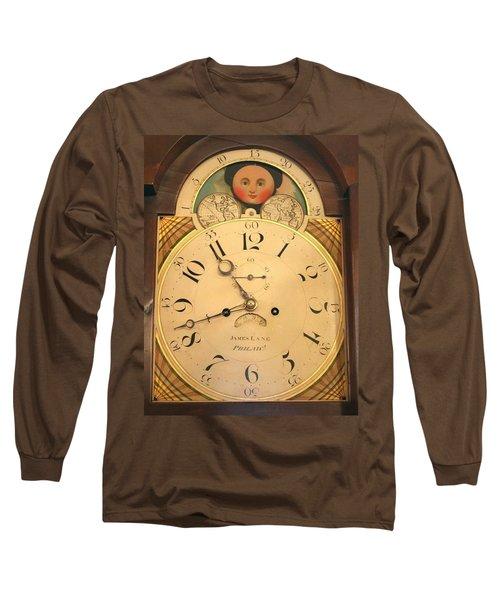 Tall Case Clock Face, Around 1816 Long Sleeve T-Shirt