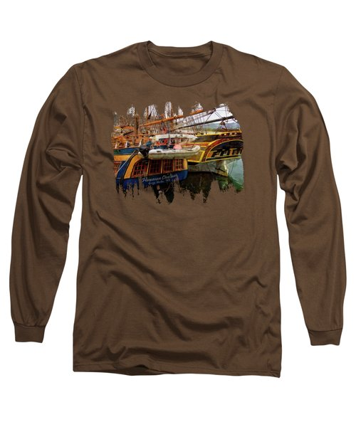 Tall Ships In Port Long Sleeve T-Shirt