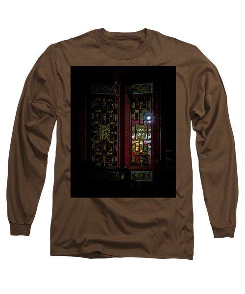 Temple Doorway On Old West Street Long Sleeve T-Shirt