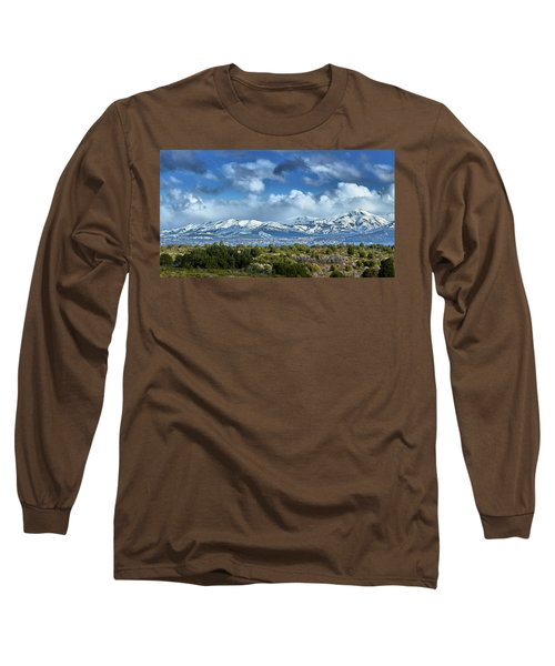 The City Of Bariloche And Landscape Of Snowy Mountains In The Argentine Patagonia Long Sleeve T-Shirt