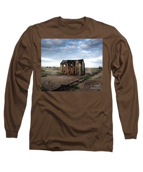 The Net Shack, Dungeness Beach Long Sleeve T-Shirt