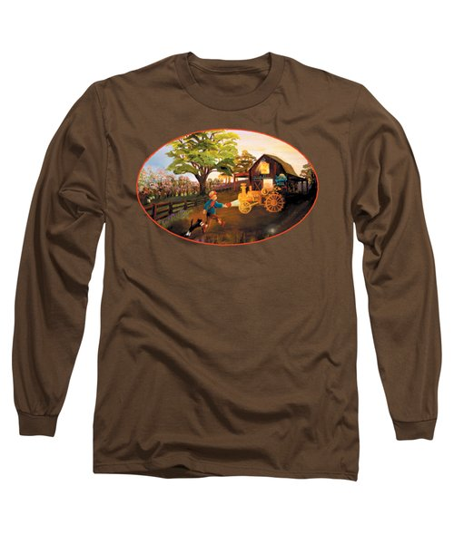 Tractor And Barn Long Sleeve T-Shirt