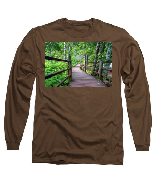 Trail At Gooseberry Falls Long Sleeve T-Shirt