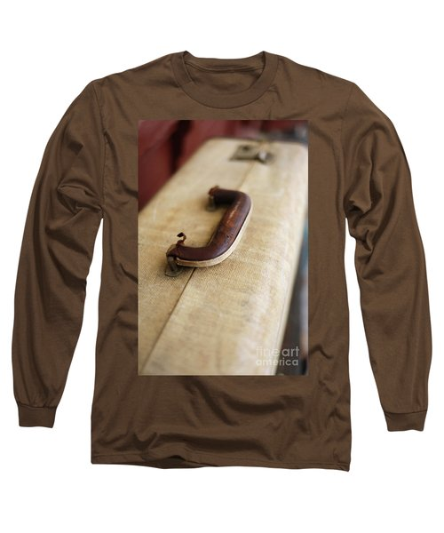 Vintage Lugguage At A Train Station Long Sleeve T-Shirt