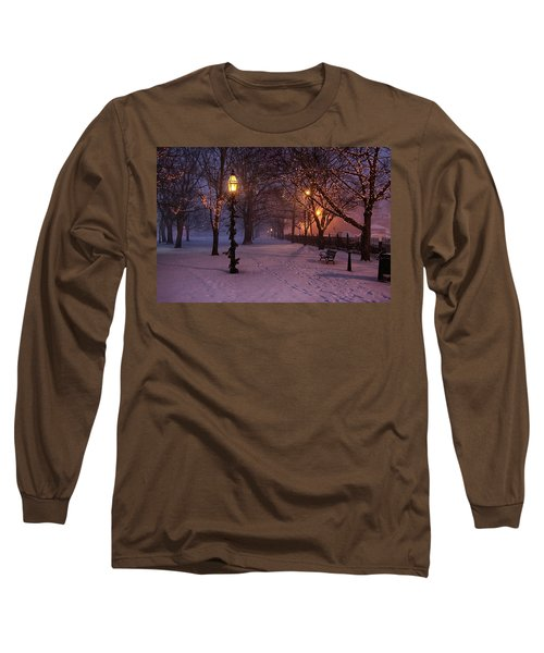 Walking The Path On Salem Ma Common Long Sleeve T-Shirt