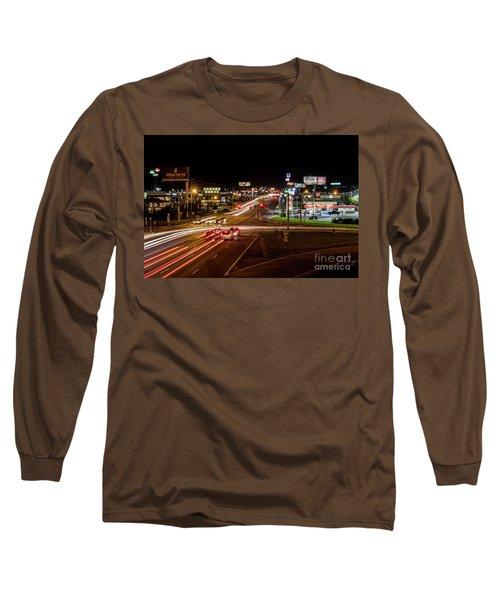 Washington Road At Night - Augusta Ga Long Sleeve T-Shirt