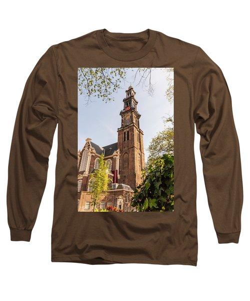 Westerkerk In Amsterdam Long Sleeve T-Shirt
