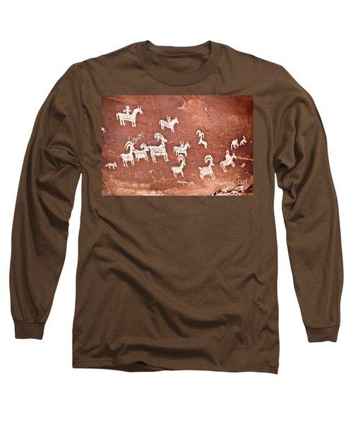 Wolfe Ranch Petroglyphs Long Sleeve T-Shirt