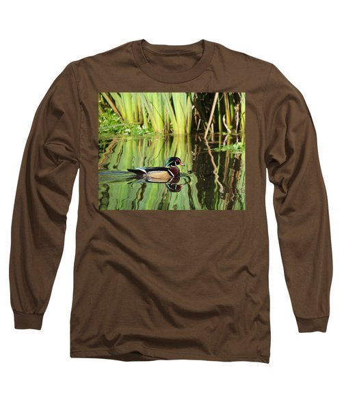 Wood Duck Reflection 1 Long Sleeve T-Shirt