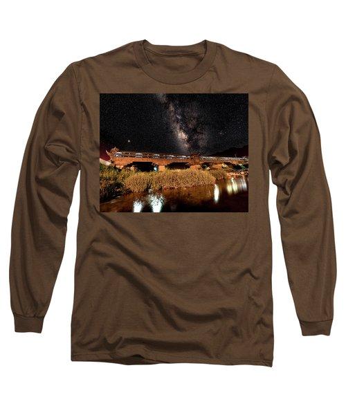 Yonghe Bridge Milky Way Long Sleeve T-Shirt