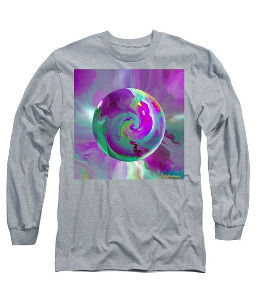Long Sleeve T-Shirt featuring the painting   Perpetual Morning Glory by Robin Moline