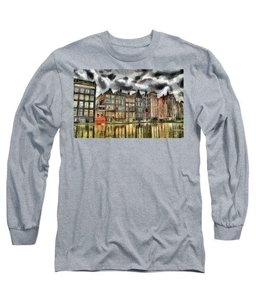 Amsterdam Water Canals Long Sleeve T-Shirt by Georgi Dimitrov