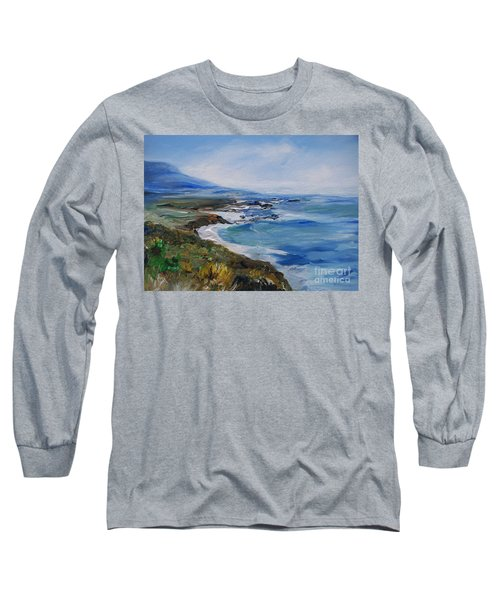 Long Sleeve T-Shirt featuring the painting  Big Sur Coastline by Eric  Schiabor