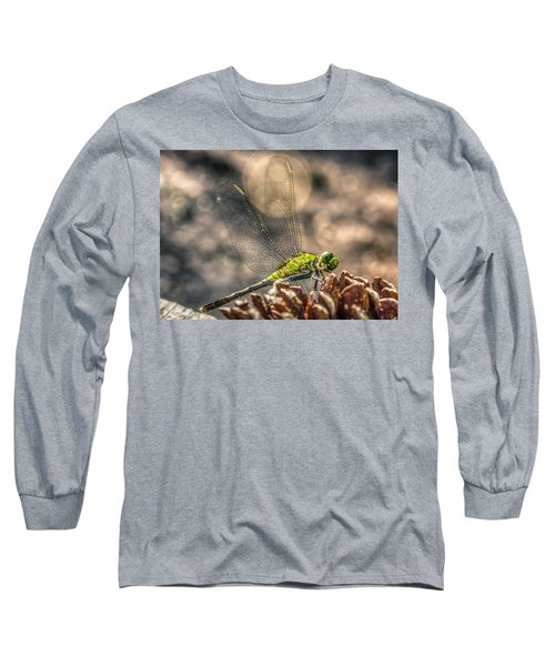 Long Sleeve T-Shirt featuring the photograph  Erythemis Simplicicollis by Rob Sellers