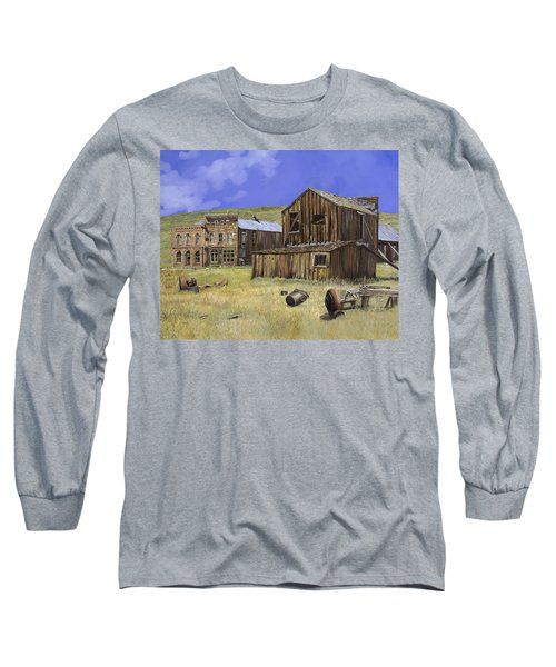 Ghost Town Of Bodie-california Long Sleeve T-Shirt