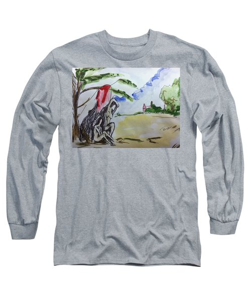 Memory Of  Paul Cezanne Long Sleeve T-Shirt by Hae Kim