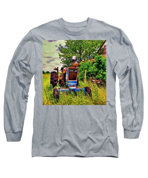 Old Ford Tractor Long Sleeve T-Shirt by Savannah Gibbs