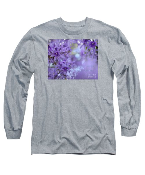 Peace Comes From Within Long Sleeve T-Shirt by Olga Hamilton