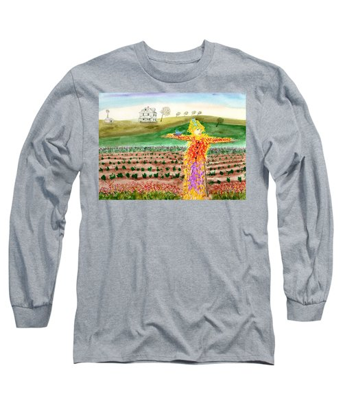 Scarecrow With Nesting Companion Long Sleeve T-Shirt
