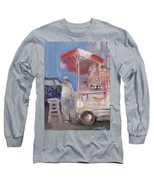 Stand On The Corner Long Sleeve T-Shirt by Leela Payne