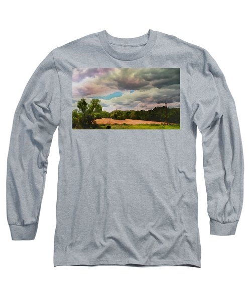 Long Sleeve T-Shirt featuring the painting  Tennessee Landscape by Joan Reese