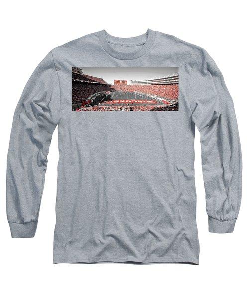 0813 Camp Randall Stadium Panorama Long Sleeve T-Shirt