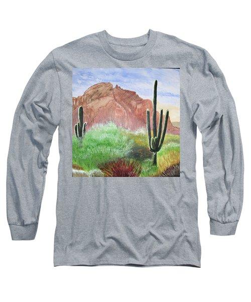 2 Saguaros Long Sleeve T-Shirt