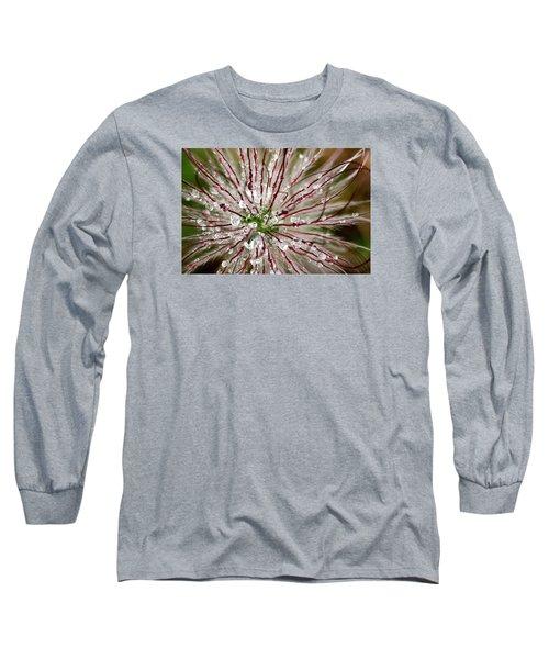 Abstract Macro Flower Head Long Sleeve T-Shirt