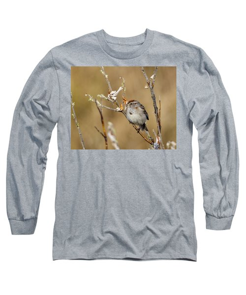 American Tree Sparrow Long Sleeve T-Shirt