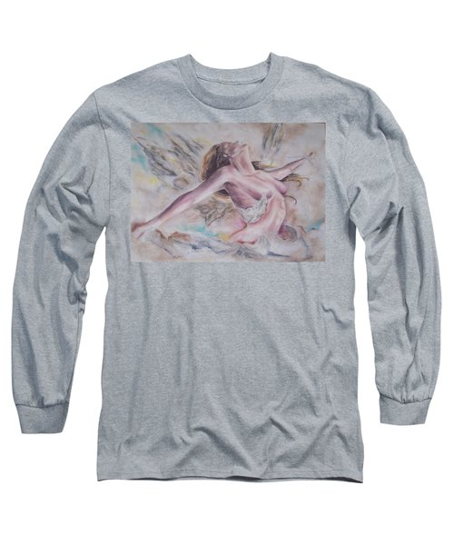 Angel Burst Long Sleeve T-Shirt by Peter Suhocke