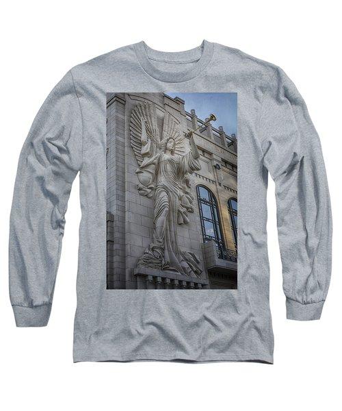 Bass Hall Angel Long Sleeve T-Shirt by Joan Carroll