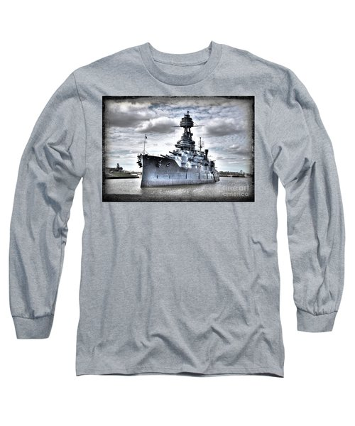 Battleship Texas Long Sleeve T-Shirt by Savannah Gibbs