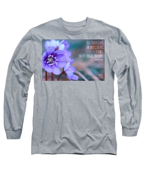 Blue Springtime Flowers Mother's Day Long Sleeve T-Shirt
