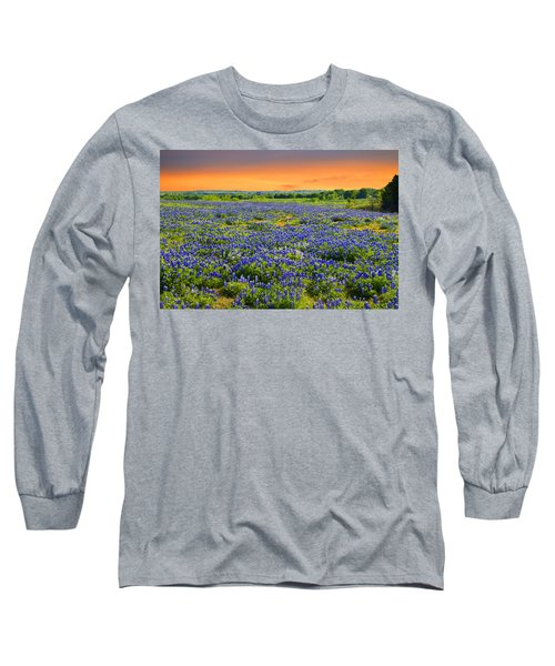 Bluebonnet Sunset  Long Sleeve T-Shirt