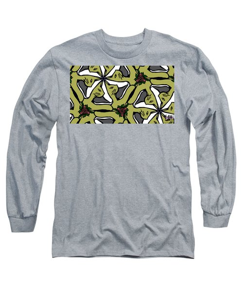 Long Sleeve T-Shirt featuring the digital art Cat / Shoe / Rose by Elizabeth McTaggart