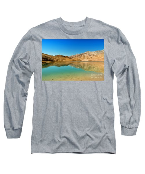 Chandratal Lake Long Sleeve T-Shirt by Yew Kwang