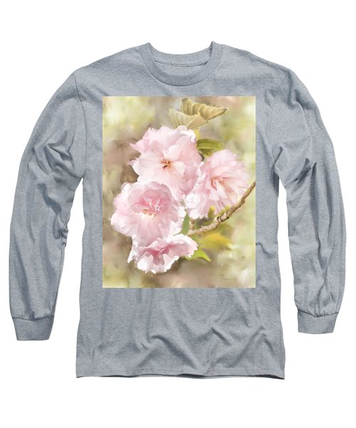 Cherry Blossoms Long Sleeve T-Shirt by Francesa Miller